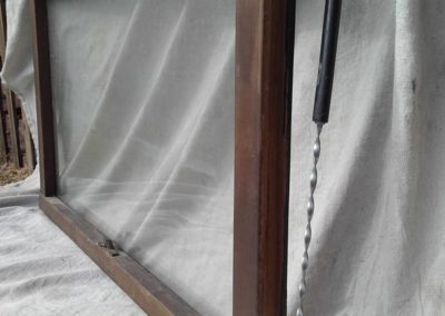 wooden window being repaired